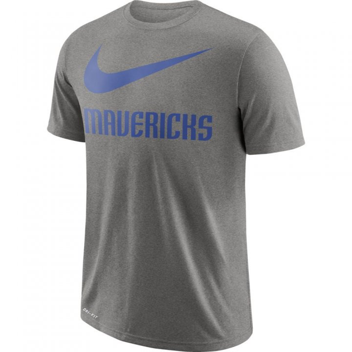 Dallas Mavericks NBA Mens Nike Swoosh Team Tee (Gray)
