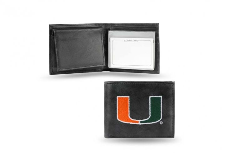 Miami Hurricanes NCAA Leather Wallet (Black)