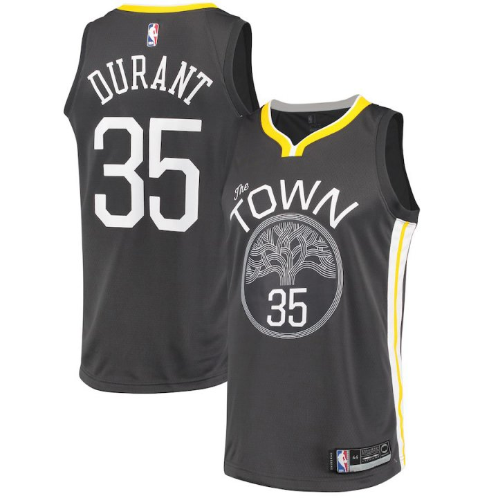 Majestic Athletic Men's Golden State Warriors #35 Kevin Durant Jersey Swingman Black