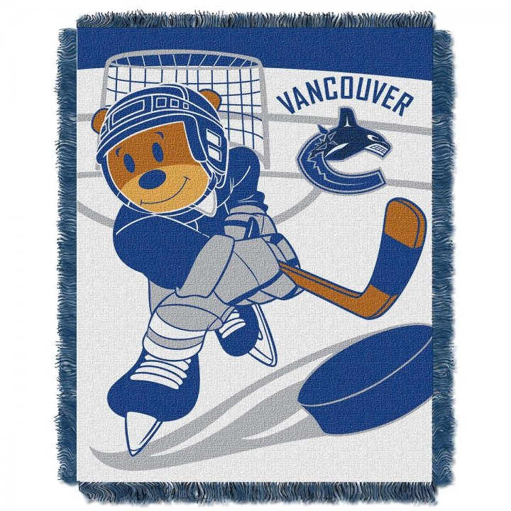 Vancouver Canucks Score Baby Throw