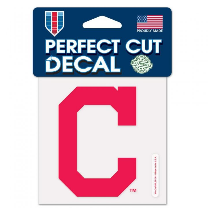 Cleveland Indians 4x4 Color Die Cut Decal