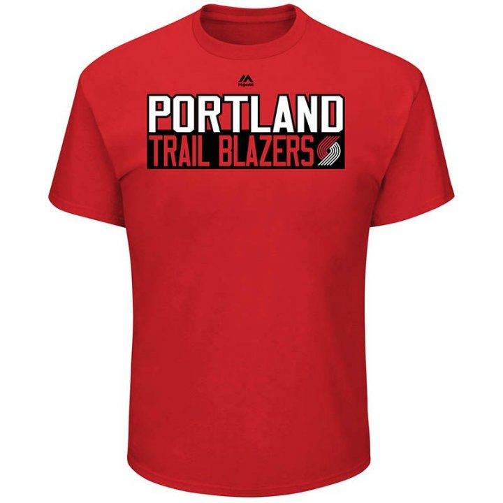 Portland Trail Blazers NBA Damian Lillard Vertical Name & Number T-Shirt (Red)