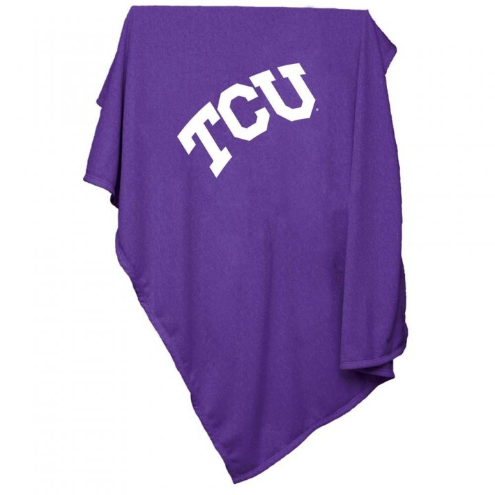 TCU Horned Frogs Sweatshirt Blanket