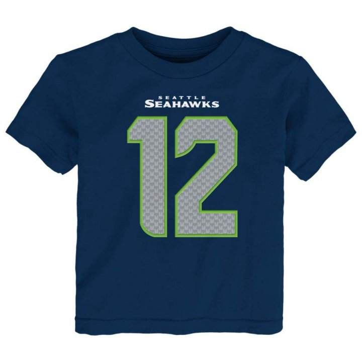 Seattle Seahawks Youth Mainline Fan Name And Number T-Shirt (Navy)