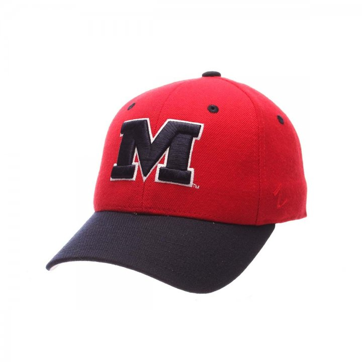 Mississippi Rebels Zephyr NCAA Dh Fitted Hat (Red)