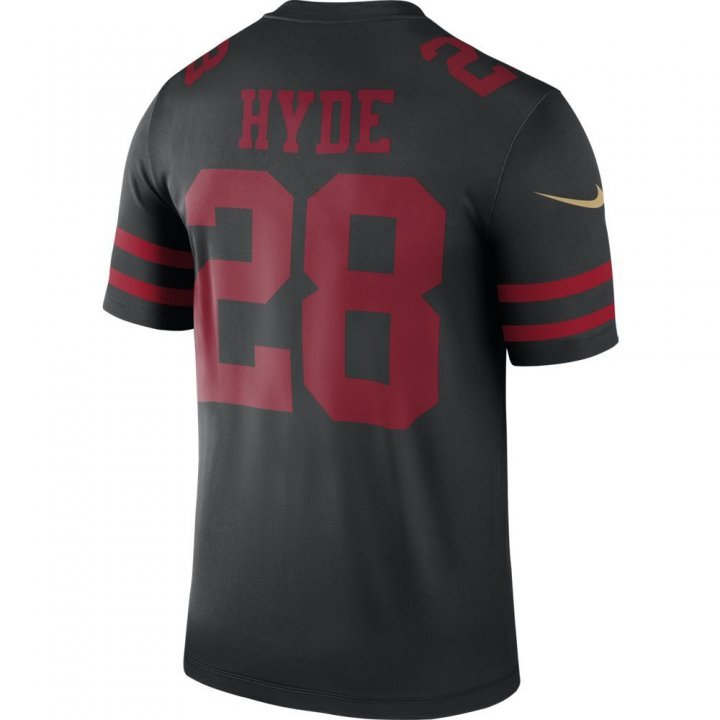 San Francisco 49ers NFL Carlos Hyde Nike Color Rush Legends Jersey (Black)