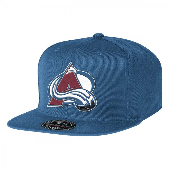 Mitchell & Ness Colorado Avalanche Solid HC Fitted Hat (Blue)