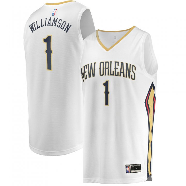 Franklin Sports Youth Kids 1 Zion Williamson New Orleans Pelicans Jersey White