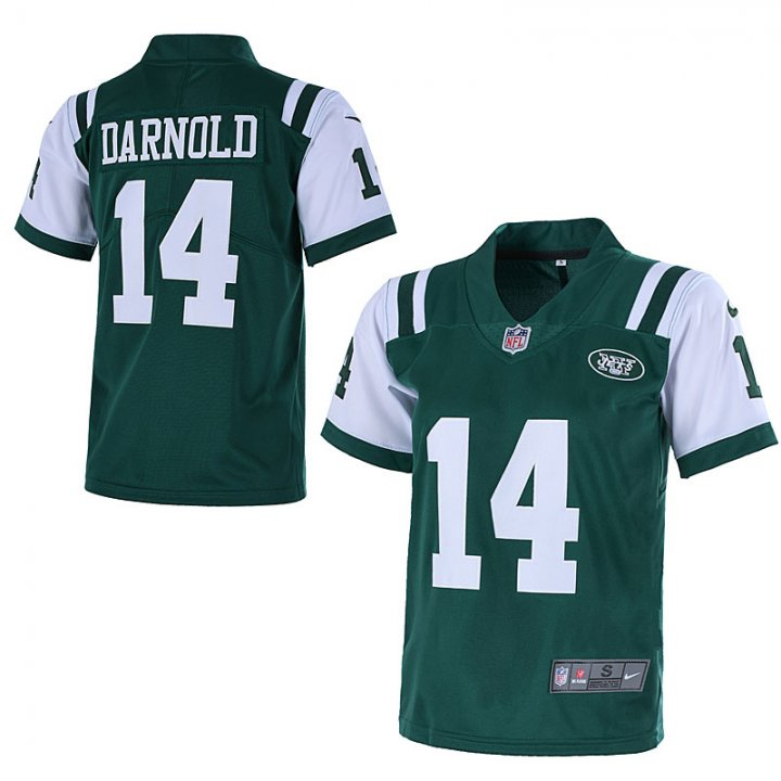 Outerstuff Youth New York Jets #14 Sam Darnold 2018 NFL Game Jersey for Kids- Green
