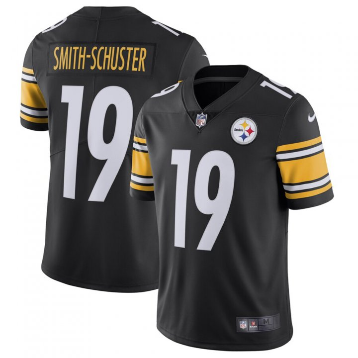 Franklin Sports JuJu Smith-Schuster #19 Pittsburgh Steelers Team Color Vapor Untouchable Limited Jersey - Black