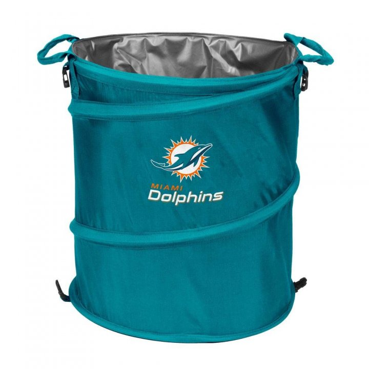 Miami Dolphins Collapsible 3 In 1 Cooler Hamper Wastebasket