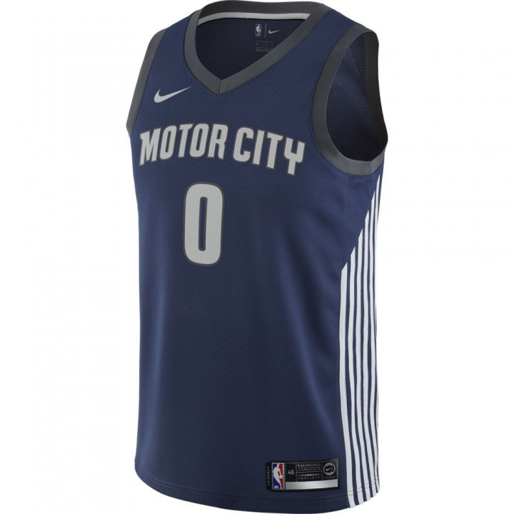 Detroit Pistons NBA Andre Drummond City Edition Swingman Jersey (Navy)