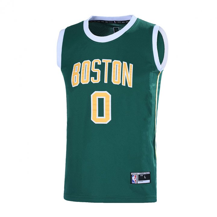 Outerstuff Youth 8-20 Boston Celtics #0 Jayson Tatum Jersey for Kids Green/Yellow