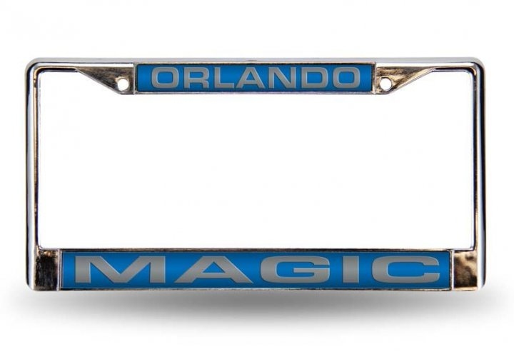 Orlando Magic NBA Laser Chrome License Plate Frame