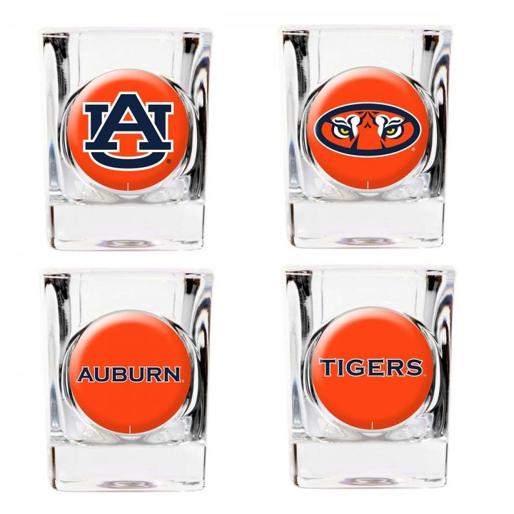 Auburn Tigers Auburn Tigers 4 Piece Collector's Shot Glass Set