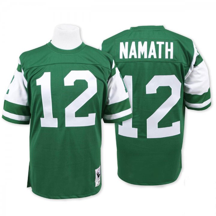 Franklin Sports Men's Joe Namath 1968 #12 New York Jets Jersey Green