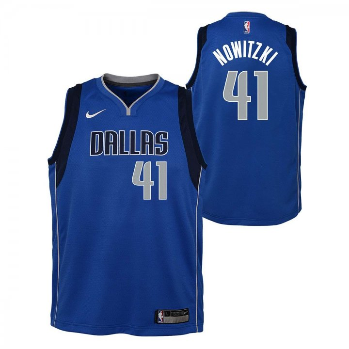 Dallas Mavericks NBA Dirk Nowitzki Youth Icon Swingman Jersey (Royal)