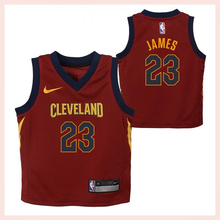 Cleveland Cavaliers NBA Lebron James Infant Icon Replica Jersey (Maroon)