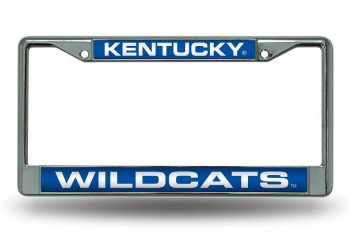 Kentucky Wildcats NCAA Laser Chrome License Plate Frame