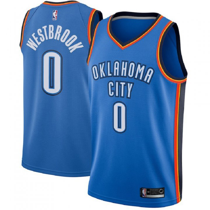 Majestic Athletic Russell Westbrook Oklahoma City Thunder Swingman Men's Jersey Blue
