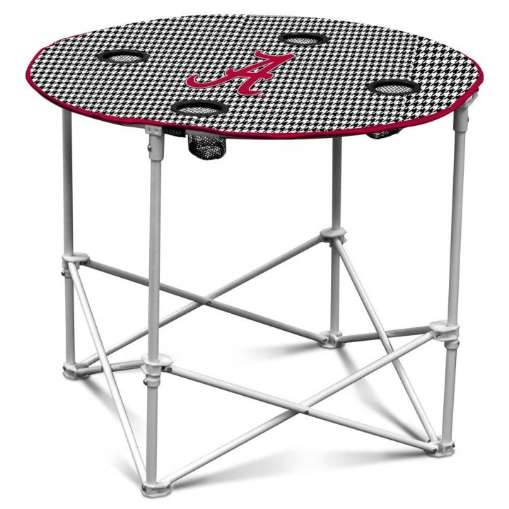 Alabama Crimson Tide Houndstooth Round Table