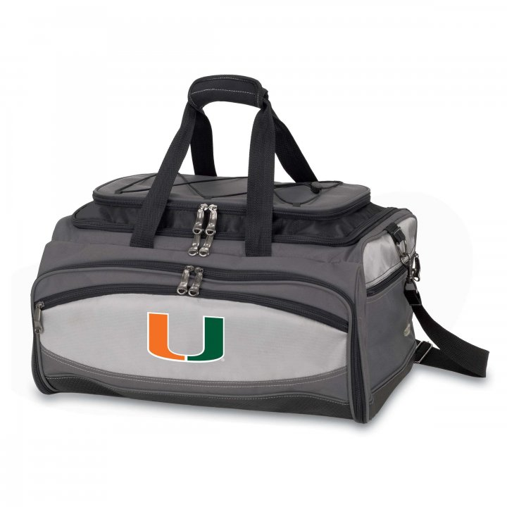 Miami Hurricanes Buccaneer Portable BBQ and Cooler Tote (Black)