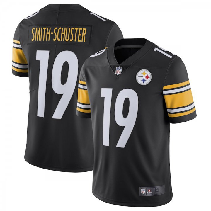 Majestic Athletic Men's Juju Smith-Schuster #19 Pittsburgh Steelers Jersey Black