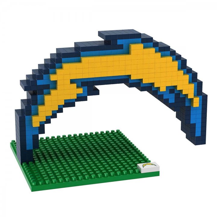 Los Angeles Chargers BRXLZ 3D Logo Kit