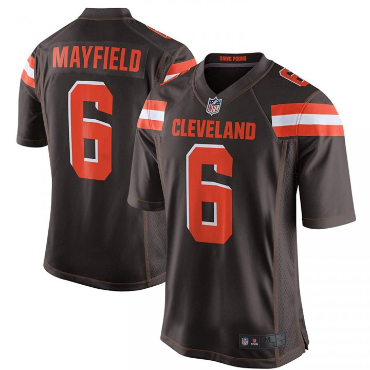 Outerstuff Youth Cleveland Browns #6 Baker Mayfield NFL Jersey Brown For Kids