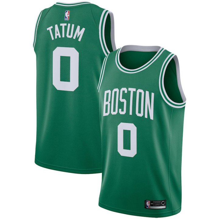 Majestic Athletic Men's Boston Celtics Jayson Tatum Swingman Jersey-Green