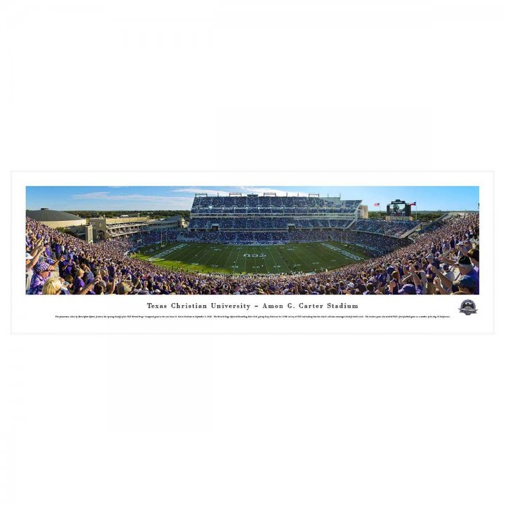 TCU Horned Frogs Unframed Panorama
