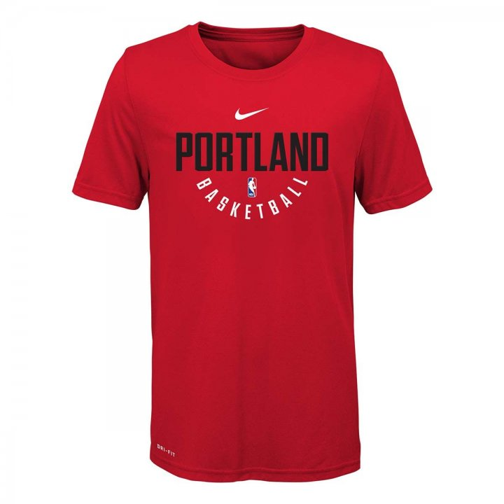 Portland Trail Blazers NBA Nike Youth Practice Tee (Red)