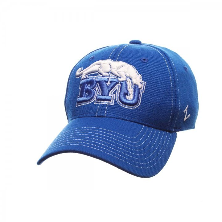 BYU Cougars Zephyr NCAA Zh Flex Fit Hat (Blue)