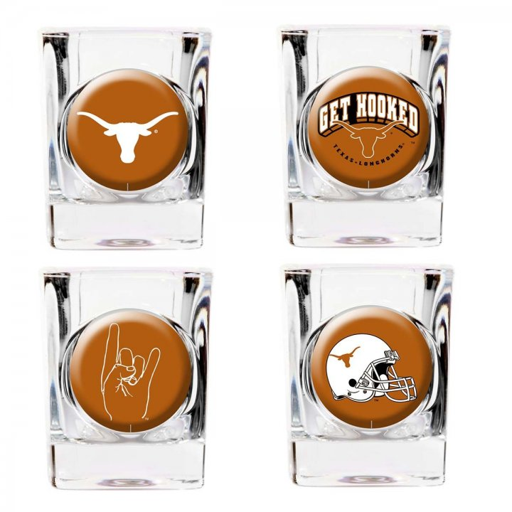 Texas Longhorns Texas Longhorns 4 Piece Collector's Shot Glass Set