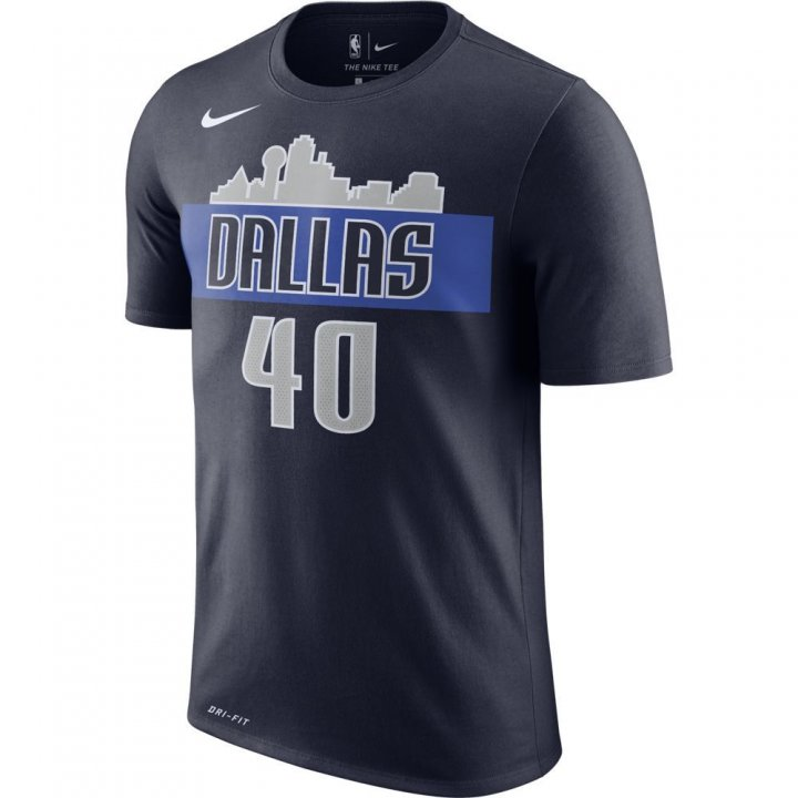 Dallas Mavericks NBA Harrison Barnes Shootaround Name & Number Tee (Navy)