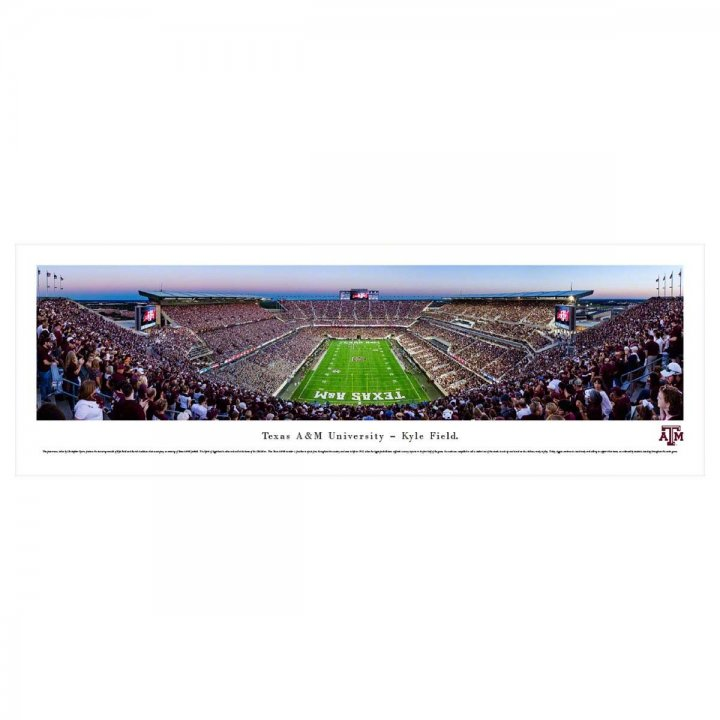 Texas A&M Aggies End Zone Unframed Panorama