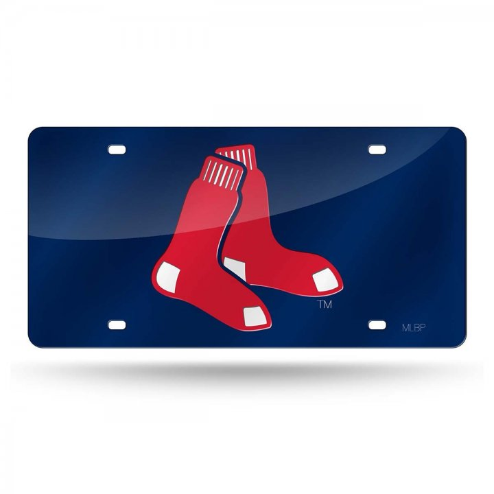 Boston Red Sox MLB Alternate Laser Cut License Plate Tag