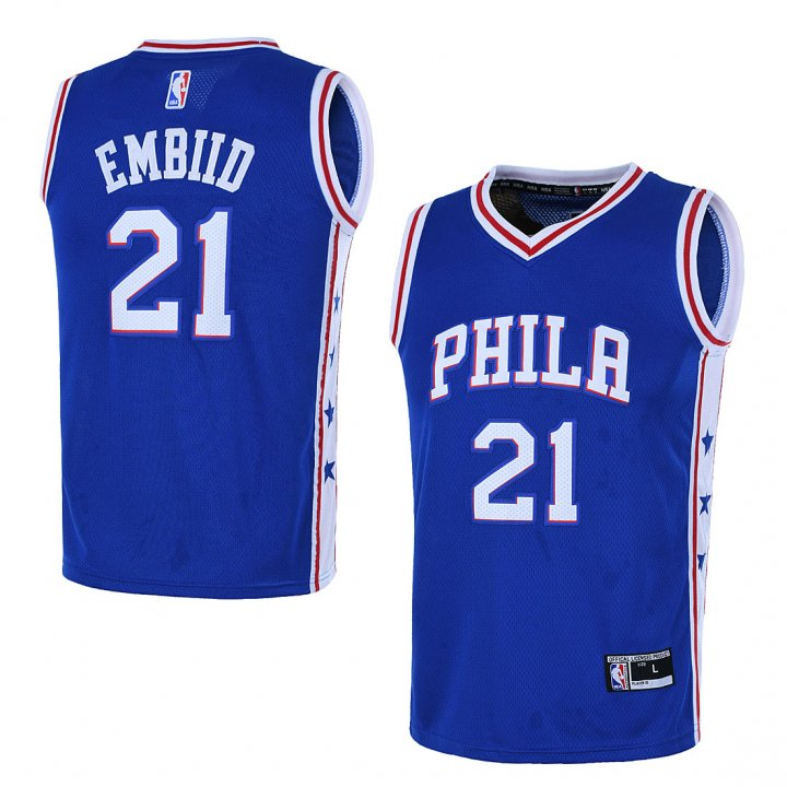 Outerstuff Youth 8-20 Philadelphia 76ers #21 Joel Embiid Jersey Blue