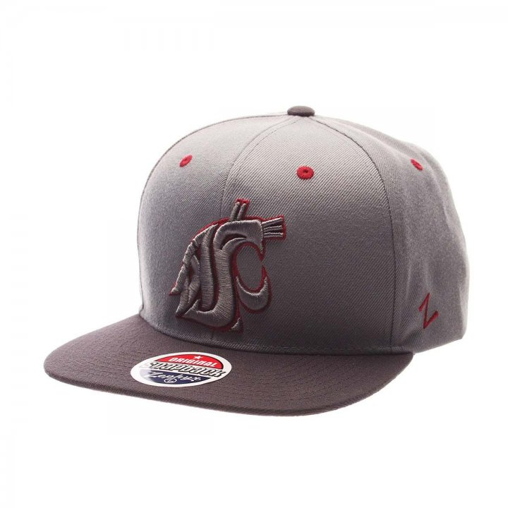 Washington State Cougars NCAA Z11 Storm Hat (Gray)