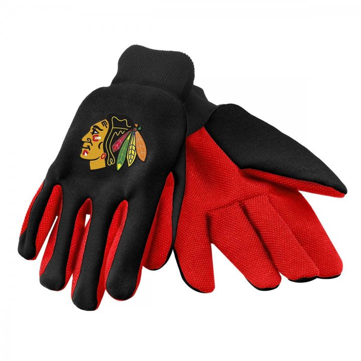 Chicago Blackhawks Two Color Work Gloves