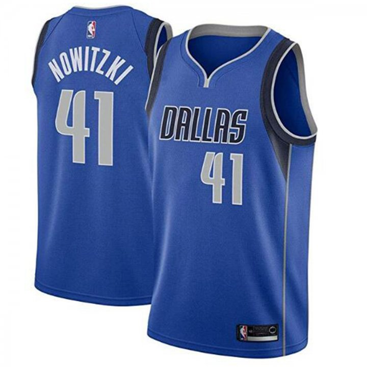 Franklin Sports Men's Dallas Mavericks #41 Dirk Nowitzki Royal Swingman Jersey-Blue