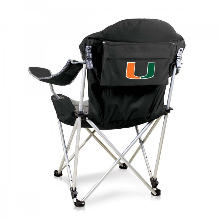 Miami Hurricanes Reclining Camp Chair (Black)