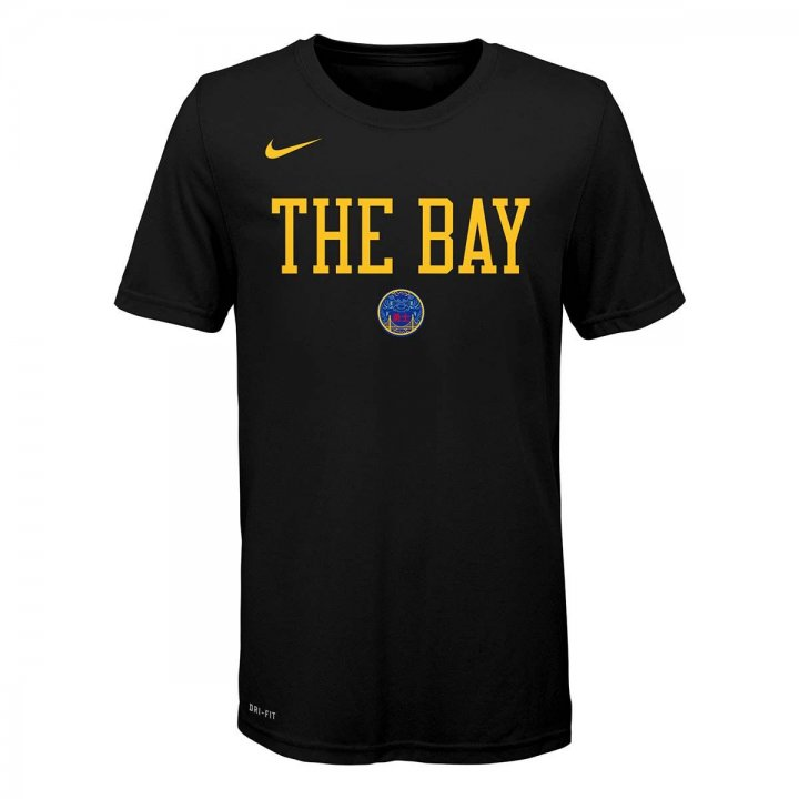 Golden State Warriors NBA Youth City Edition T-Shirt (Black)