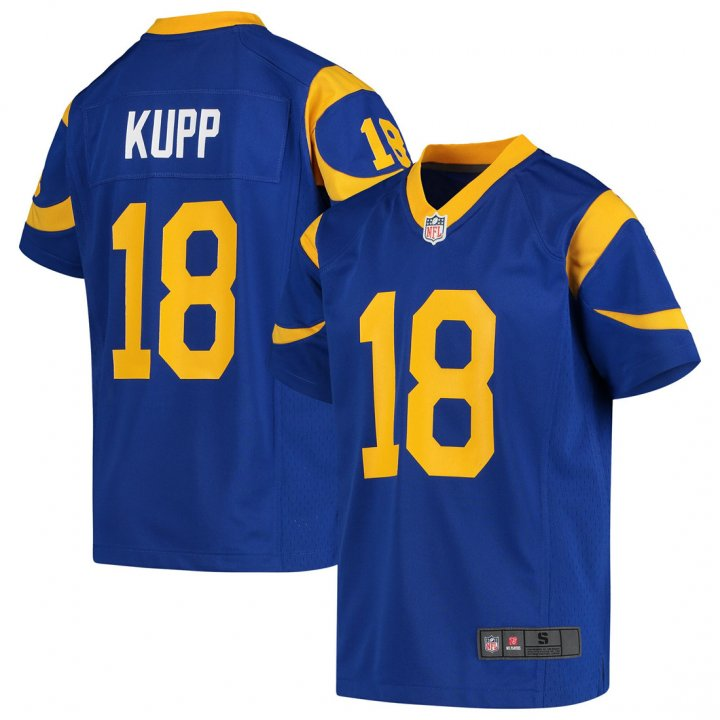 Outerstuff Youth Kids 18 Cooper Kupp Los Angeles Rams Jersey Royal