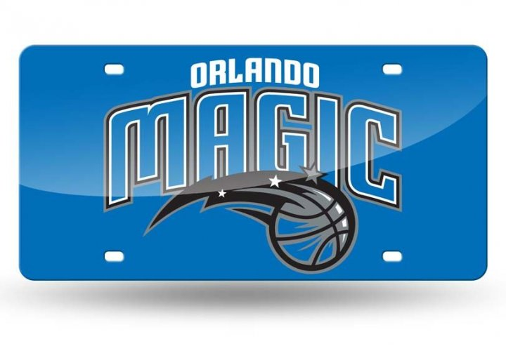Orlando Magic NBA Laser Cut License Plate Tag