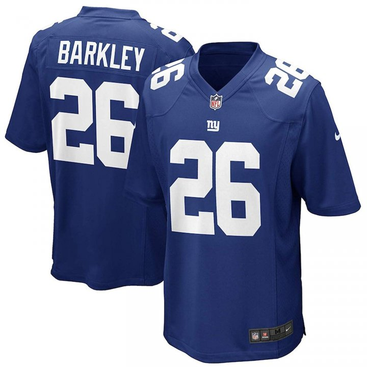Outerstuff Saquon Barkley New York Giants #26 Blue Youth Performance Jersey