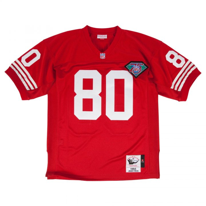 Franklin Sports Men's Jerry Rice 1994 Authentic Jersey #80 San Francisco 49ers Red