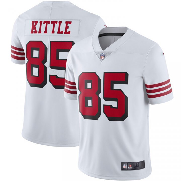 Franklin Sports Men's George Kittle #85 San Francisco 49ers Color Rush Vapor Limited Jersey - White