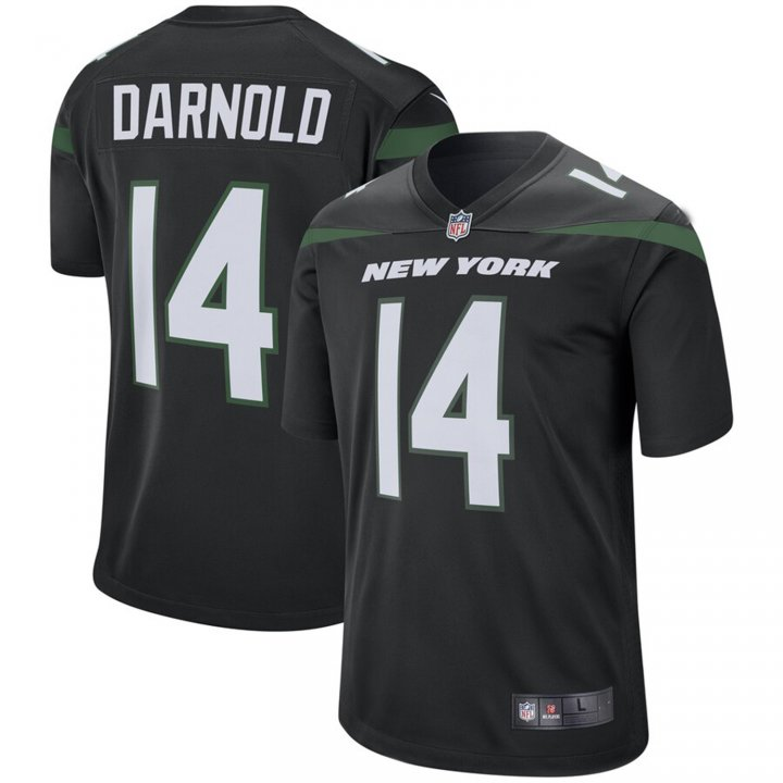 VF LSG Men's Sam Darnold #14 New York Jets Game Jersey - Stealth Black