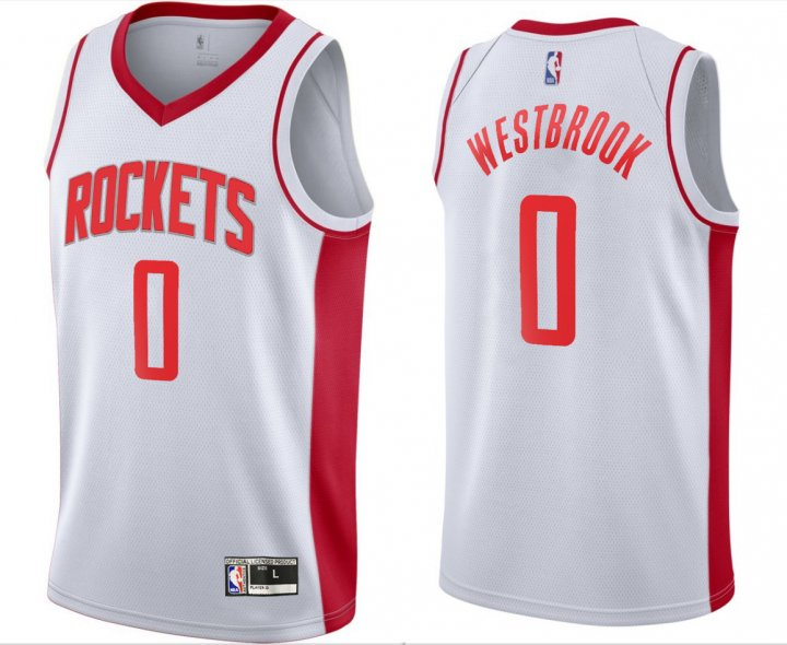 Outerstuff Youth Kids 0 Russell Westbrook Houston Rockets Jersey White